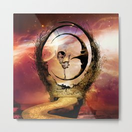 Dancing on the moon Metal Print