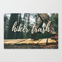 Hiker + Trash Canvas Print