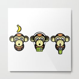 Wiser Monkeys Metal Print