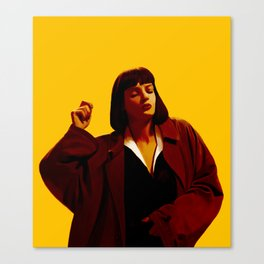 Mia Wallace - Yellow Canvas Print