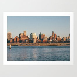 Brooklin view from Hudson river (New York City - USA) Art Print