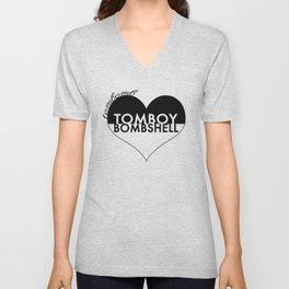 TOMBOY HEART BOMBSHELL Unisex V-Neck