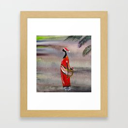 Merry Christmas. Funny image Framed Art Print