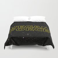 vegan Duvet Covers featuring Vegan Force by Spyck