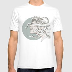 Blind White Mens Fitted Tee MEDIUM