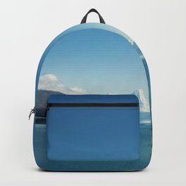 Blue & snowy landscape Backpack