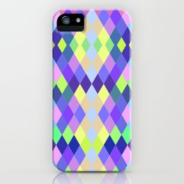 PASTEL GEOMETRY DIAMOND iPhone Case