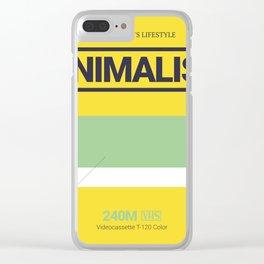 MINIMALISM #6 Clear iPhone Case
