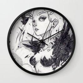 Harpy (graphite) Wall Clock
