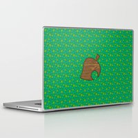 animal crossing Laptop & iPad Skins featuring Animal Crossing Spring Grass by Rebekhaart