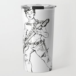 Guitarist Boy Lineart Travel Mug