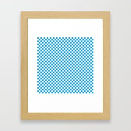 Oktoberfest Bavarian Blue and White Checkerboard Framed Art Print