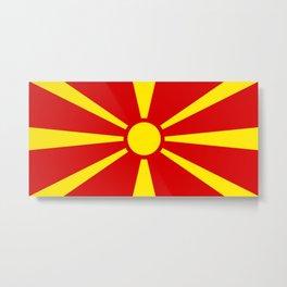 Macedonia Flag Metal Print