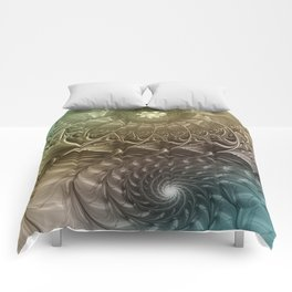 Togetherness, Fractal Art Abstract Comforters