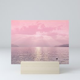 Kiss In The Lake At Sunset Mini Art Print