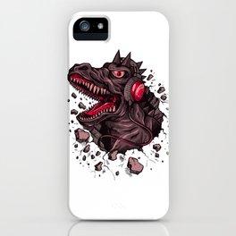 Dino with Headphones Finn iPhone Case