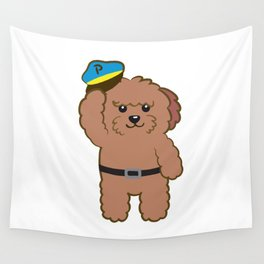 Poodle Police Wall Tapestry