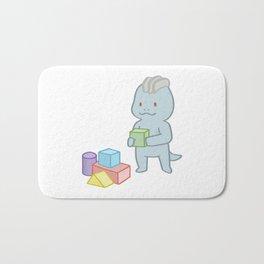 Machop baby cartoon Bath Mat