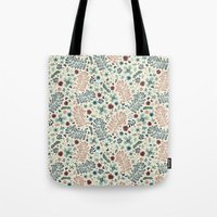 flora Tote Bags featuring Flora by Anna Deegan