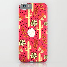 Cacti and butterflies in pink Slim Case iPhone 6s