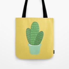 Cute Cactus Illustration Tote Bag