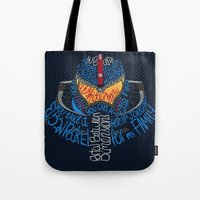 pacific rim Tote Bags featuring Pacific Rim by Charleighkat
