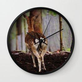 Deer  - JUSTART © Wall Clock