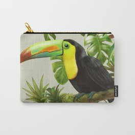 Toucans and Bromeliads (Canvas Background) Carry-All Pouch