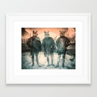fox Framed Art Prints featuring Fox Hunt by Chase Kunz