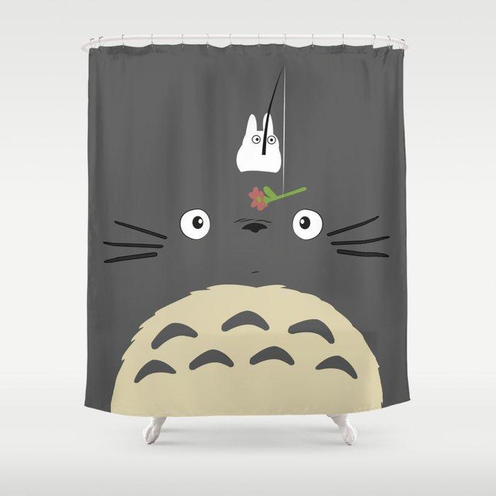 Cute Totoro Shower Curtain By Minettewasserman