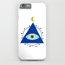 Greek eye on a pyramid | good luck | Luck charm iPhone Case