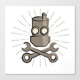 Jolly Robot 01 Canvas Print