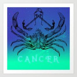 Astro Crab Art Print
