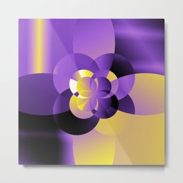 Nonbinary Pride Abstract Gradient Circles Metal Print
