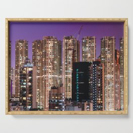 Hong Kong Purple High Rise Serving Tray