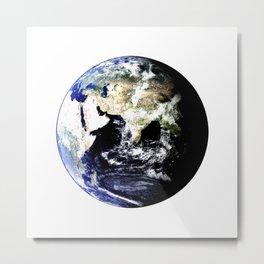 Earth Globe Metal Print