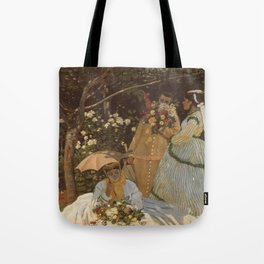 Monet- Women in the Garden, nature,Claude Monet,impressionist,post-impressionism,painting Tote Bag