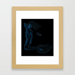 Mermaids of the Abyss Framed Art Print