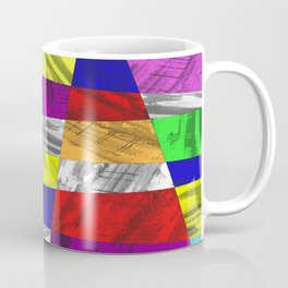 Crazy Colour Tiles - Textured, abstract pattern Coffee Mug