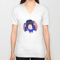 goddess V-neck T-shirts featuring Goddess by Gryphinic