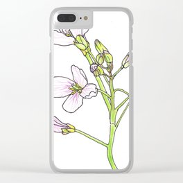 Cuckoo Flower Detail Clear iPhone Case