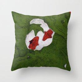 Underwater Crocs Throw Pillow