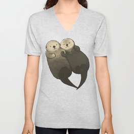 Significant Otters - Otters Holding Hands Unisex V-Neck