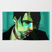 wes anderson Area & Throw Rugs featuring Brett Anderson by zomplag