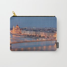 Chain Bridge at Dusk. Budapest. Carry-All Pouch