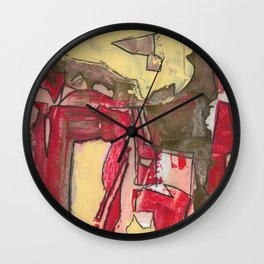 Ice Cream and Cigarettes Modern Abstract Fine Art Wall Clock