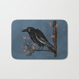 Raven On A Cold And Rainy Day Bath Mat