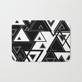 Triangle black and white Bath Mat
