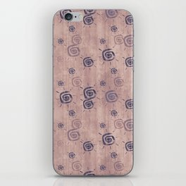 grunge sun pattern dark iPhone Skin