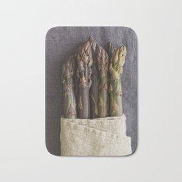 Purple asparagus Bath Mat